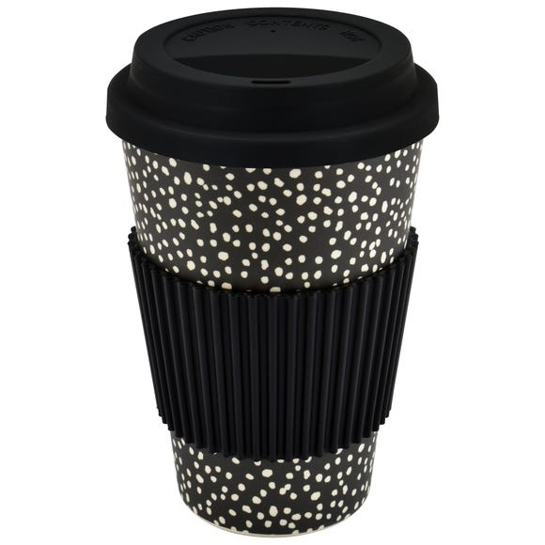 Global Dot Bamboo Fibre Travel Mug Black