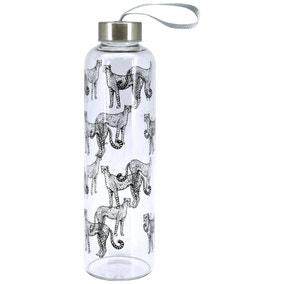 Cheetah Glass Bottle