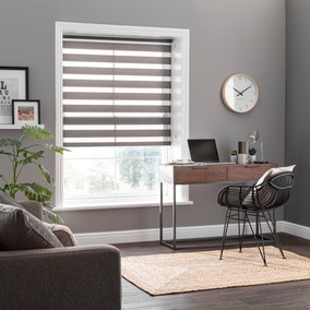 Day and Night Grey Daylight Roller Blind