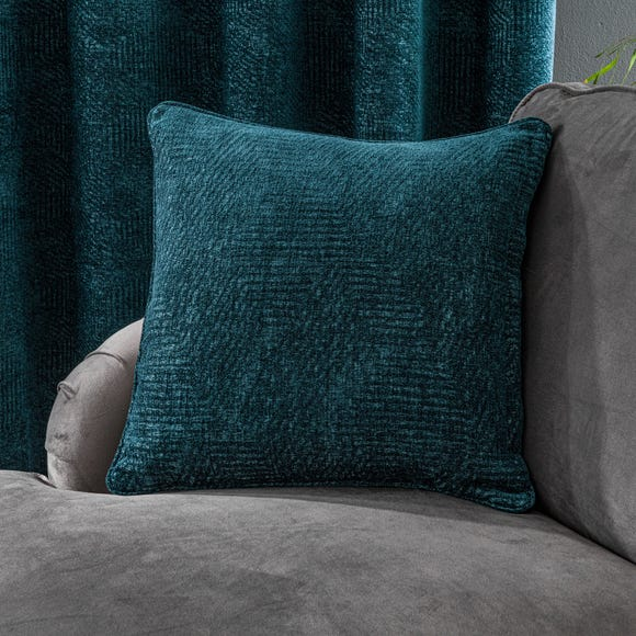 Chenille Geo Peacock Cushion Peacock