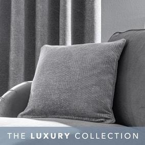 Chenille Geo Grey Cushion