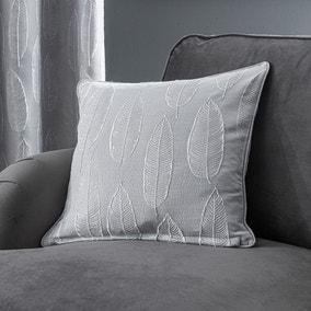 Glam Leaf Charcoal Cushion