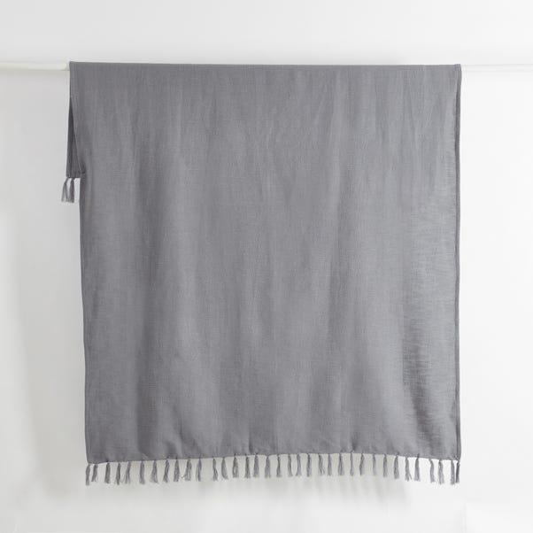 Cotton Slub Throw Grey