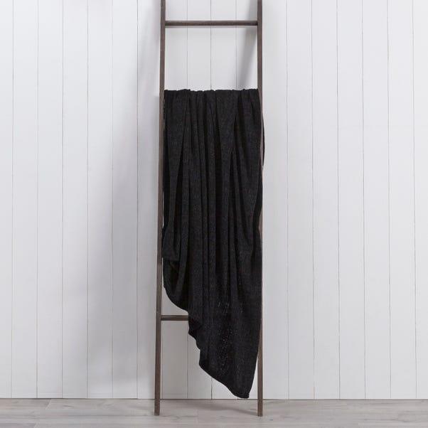 Chenille 200cm x 200cm Throw Black