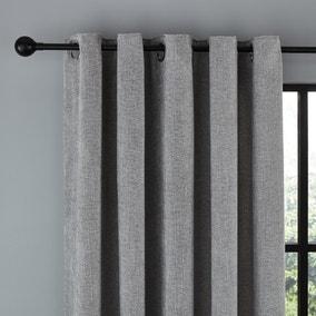 Wynter Grey Thermal Eyelet Curtains