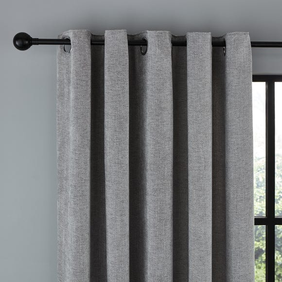 Wynter Grey Thermal Eyelet Curtains  undefined