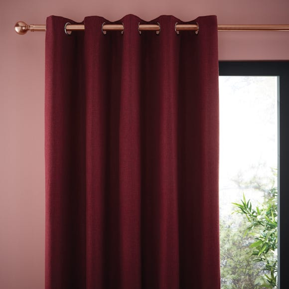 Jennings Merlot Thermal Eyelet Curtains Wine (Red) undefined