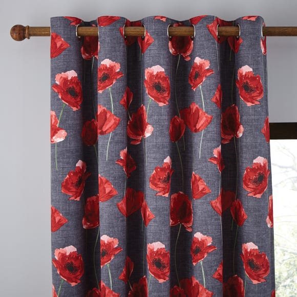 Poppy Trail Red Eyelet Curtains  undefined