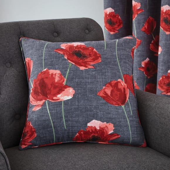 Poppy Trail Red Cushion Red