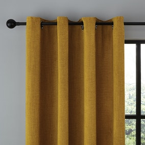 Wynter Old Gold Thermal Eyelet Curtains