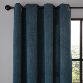 Wynter Teal Thermal Eyelet Curtains