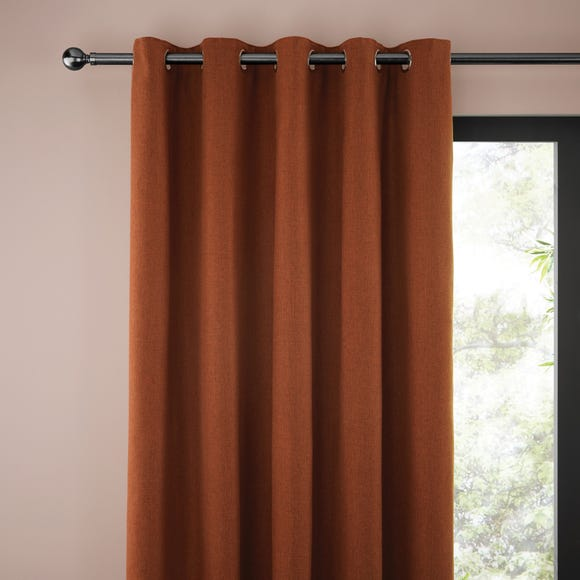 Jennings Butterscotch Thermal Eyelet Curtains Butterscotch (Orange) undefined