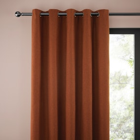 Jennings Butterscotch Thermal Eyelet Curtains