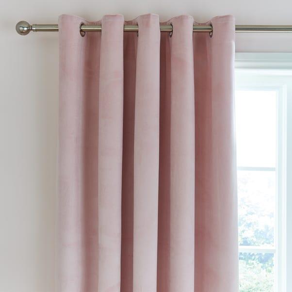 Ashford Blush Velour Eyelet Curtains  undefined