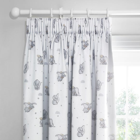 Dumbo Pencil Pleat Blackout Curtains Grey undefined