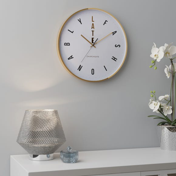 Fashionably Late Clock 36cm Gold