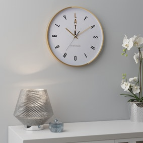 Fashionably Late Clock 36cm