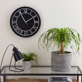Contemporary Black Clock 39cm