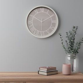 Contemporary 38.5cm Wall Clock Taupe