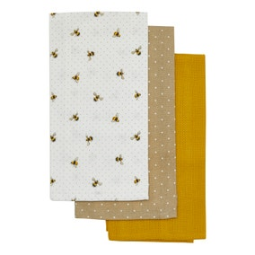 Pack of 3 Bees Tea Towels