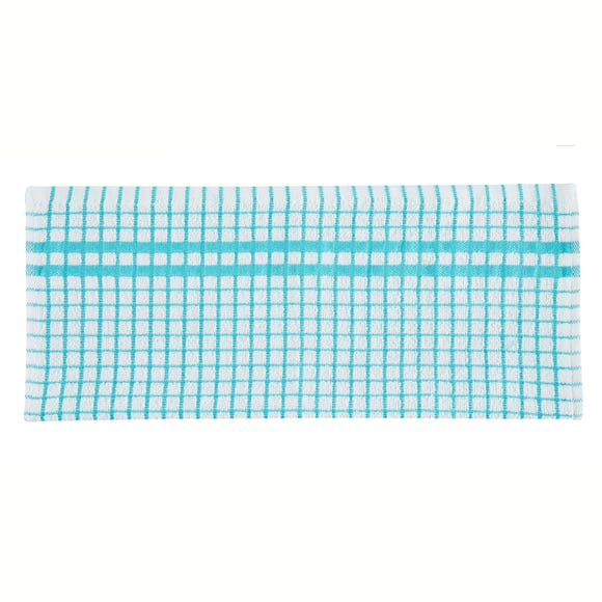 Portobello Mayland Check Tea Towel Blue