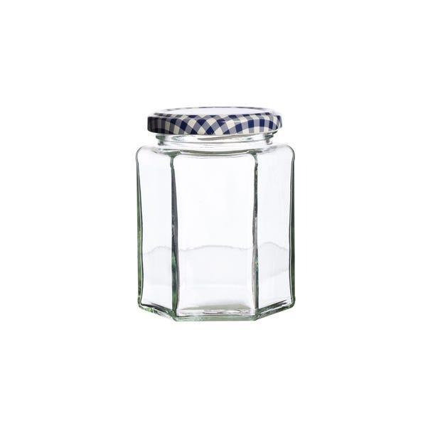 Kilner Hexagonal Twist Top 280ml Jar Clear