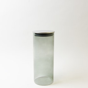 Smoked Large Glass Canister