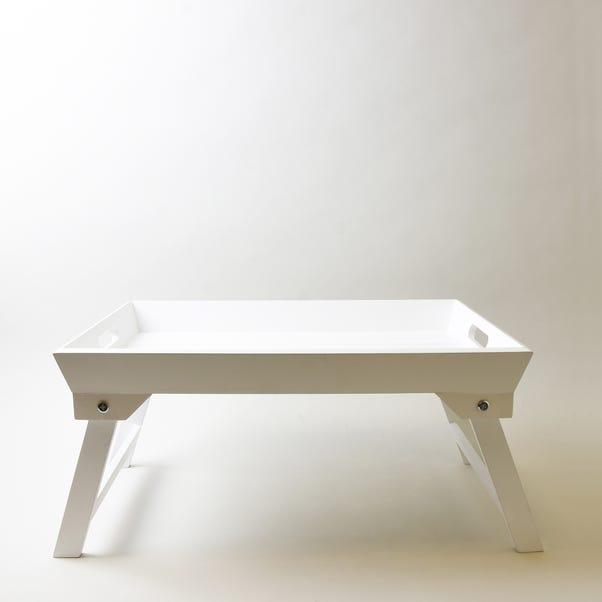 White Wooden Breakfast Tray White