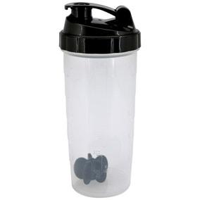 Black 800ml Drinks Bottle with Shaker