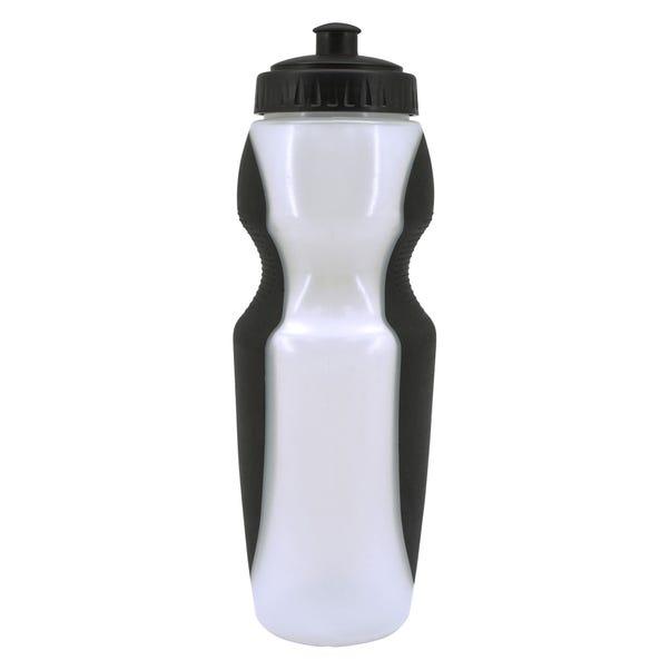 Black 750ml Sports Bottle White