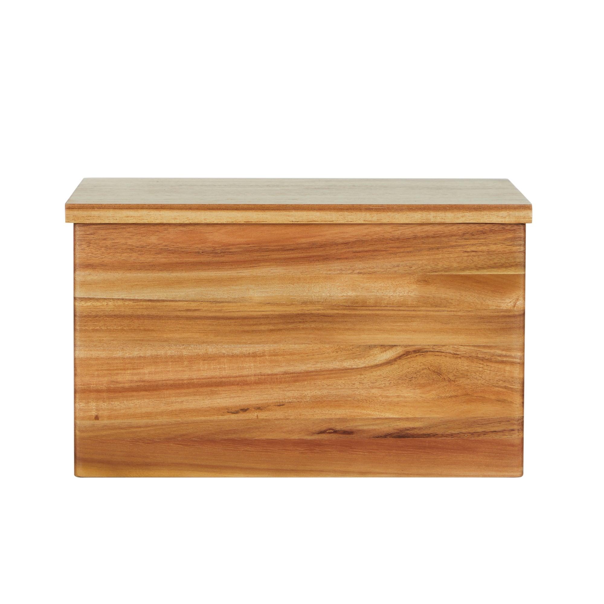Acacia Wooden Bread Bin Brown