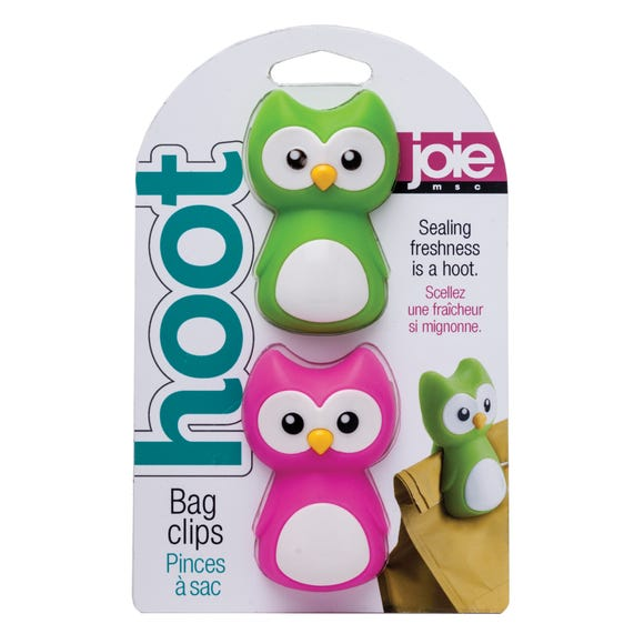 Joie Pack of 2 Owl Bag Clips MultiColoured