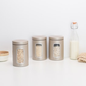 Brabantia Champagne Window Canister Set