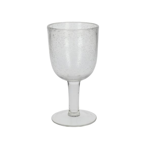 Clear Bubble Wine Glass Clear