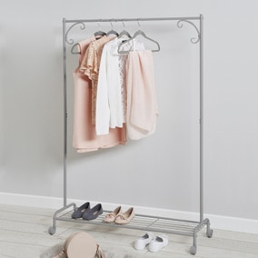 Grey Clothes Rail