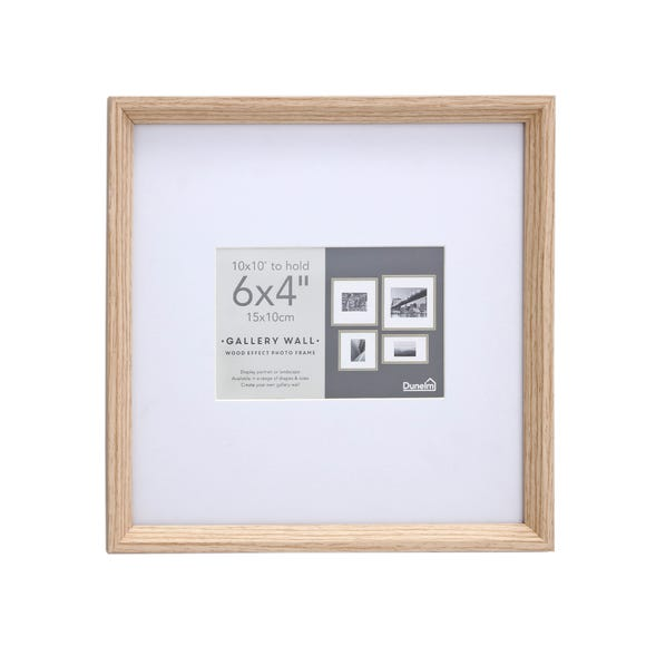 """Wood Effect Oversized Mount Frame Square 6"""" x 4"""" (15cm x 10cm) Wood (Brown)"""