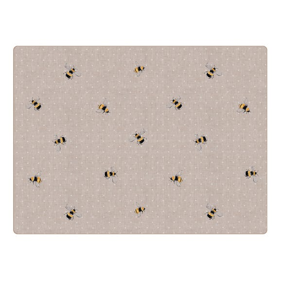 Set of 4 Bee Placemats Natural