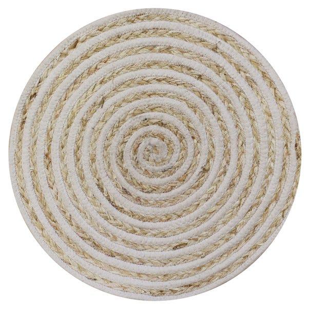 Set of 2 Natural Rope Placemats Natural