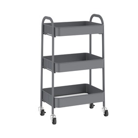 Grey 3 Tier Storage Trolley
