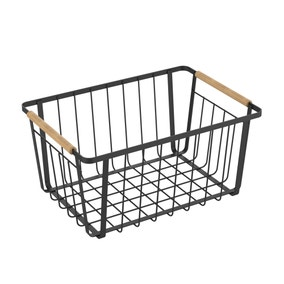 Large Black Food Storage Basket