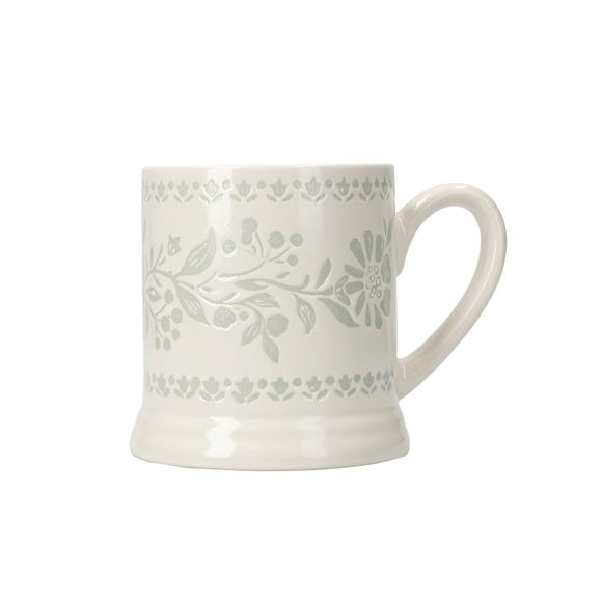 Arts and Crafts Footed Mug Cream