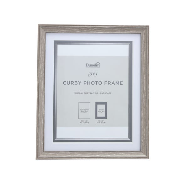 "Curby Photo Frame 8"" x 10"" (20cm x 25cm) Grey"