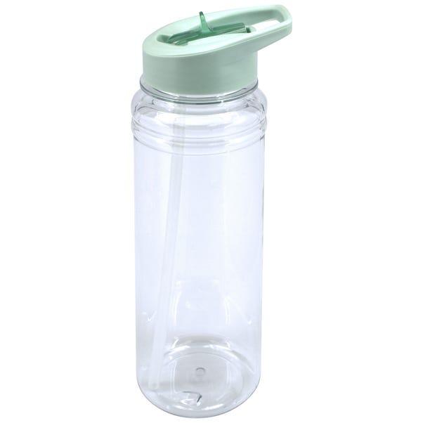 Teal 750ml Water Bottle Clear