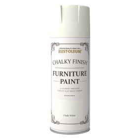 Rust-Oleum Chalk White Furniture Spray Paint 400ml