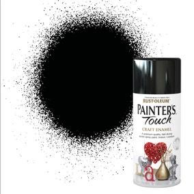 Rust-Oleum Painters Touch Black Enamel Spray Paint 150ml