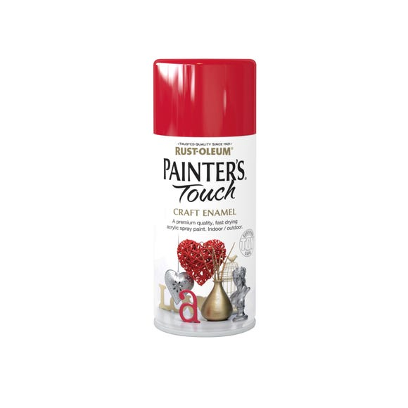 Rust-Oleum Painters Touch Cherry Red Enamel Spray Paint 150ml