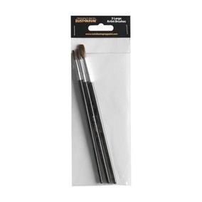 Rust-Oleum Pack of 3 Large Artist Brushes