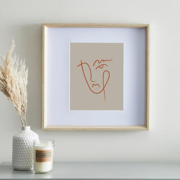 "Wood Effect Oversized mount Frame 8"" x 10"" (20cm x 25cm) Brown"
