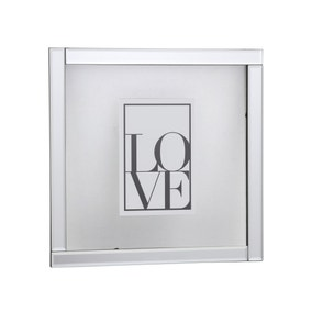 "Mirrored Floating Frame Square 6"" x 4"" (15cm x 10cm)"