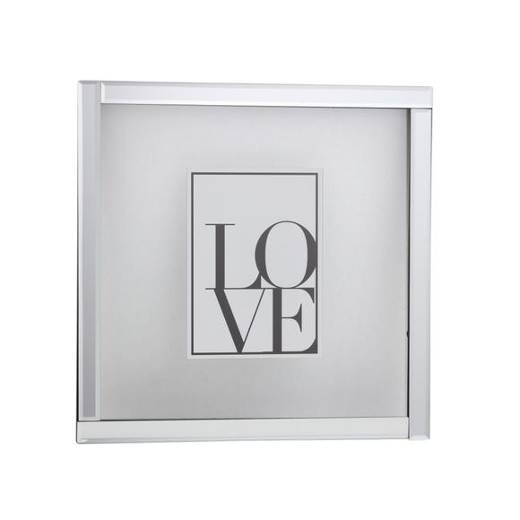 """Mirrored Floating Frame 7"""" x 5"""" (18cm x 13cm) Silver"""
